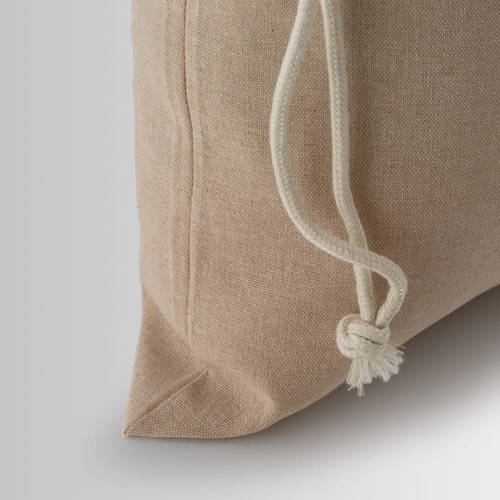 Beige cord for drawstring closure in recycled cotton
