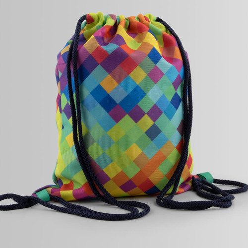 Custom size backpack and colorful texture
